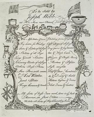Merchant Trade Card, 1765 Art Print