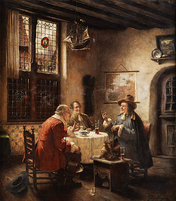 Merchants Print by Fritz Wagner