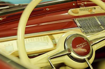 Photograph - Mercury 8 Steering Wheel by Jill Reger