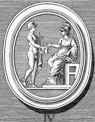 Hermes Wall Art - Photograph - Mercury And Minerva by Granger