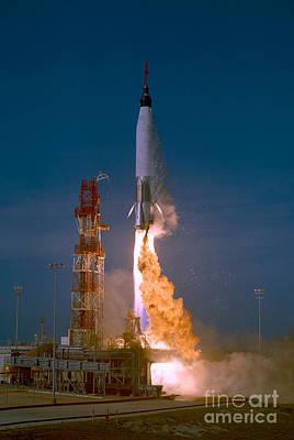 319 Photograph - Mercury-atlas Capsule Test by Nasa