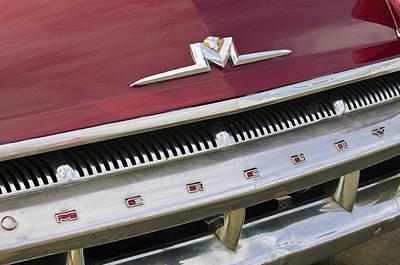 Photograph - 1956 Mercury Hood Emblem by Jill Reger