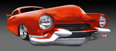 Orange Car Photograph - Mercury Low Rider by Mike McGlothlen