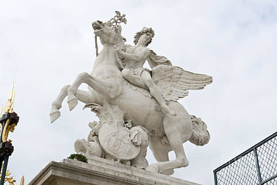 Photograph - Mercury Riding Pegasus by Fabrizio Ruggeri