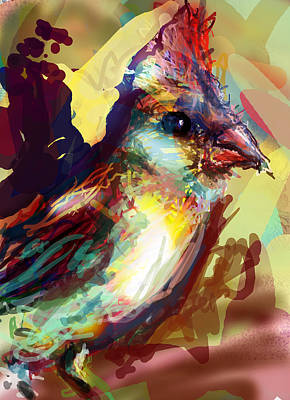 Parakeet Digital Art - Mercy Bird by James Thomas