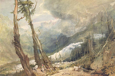 Switzerland Painting - Mere De Glace - In The Valley Of Chamouni by Joseph Mallord William Turner