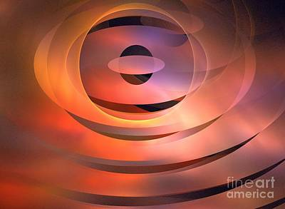 Abstract Rose Oval Digital Art - Meridian by Kim Sy Ok