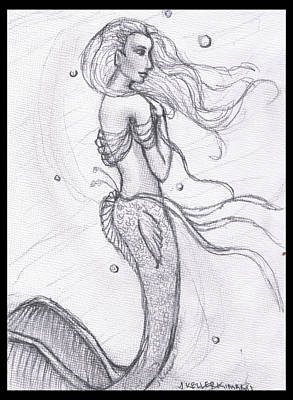 Painting - Mermaid Aiesy by Janice T Keller-Kimball
