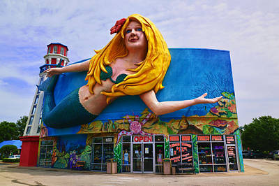Of Sea Creatures Photograph - Mermaid Building by Garry Gay