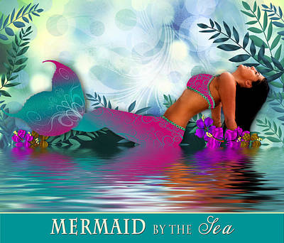 Photograph - Mermaid By The Sea by Trudy Wilkerson