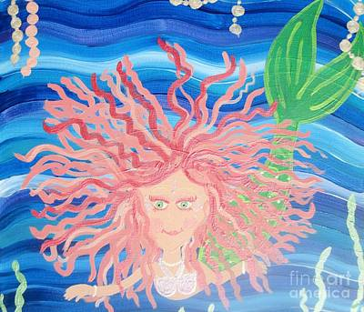 Enmity Painting - Mermaid Enmity II by Eva  Dunham