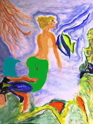 Painting - Mermaid  by Stanley Morganstein