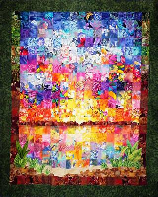 Tapestry - Textile - Merritt Island Quilt by Francesa Miller