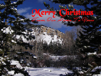 Photograph - Merry Christmas From Our Home To Yours by DeeLon Merritt