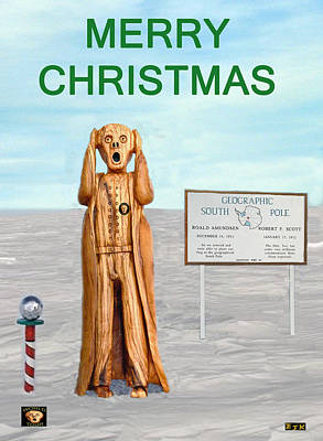 South Sea Mixed Media - Merry Christmas Scream by Eric Kempson