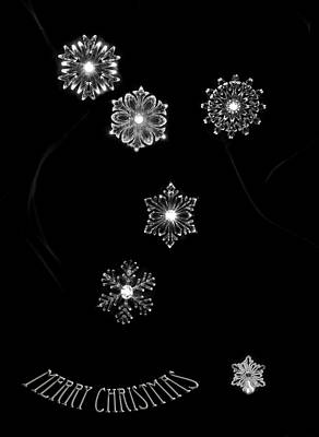 Photograph - Merry Christmas Snowflakes by Beverly Cash