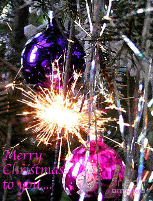 Photograph - Merry Christmas Sparkler by George Tuffy