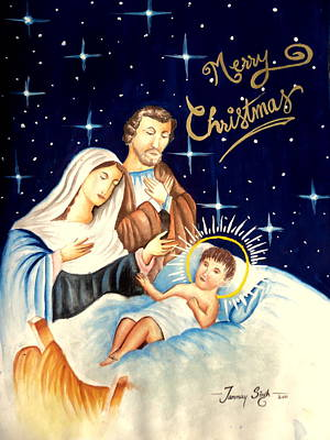 Painting - Merry Christmas by Tanmay Singh