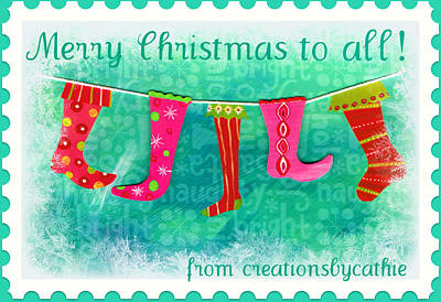 Christmas Cards Digital Art - Merry Christmas To All by Cathie Tyler