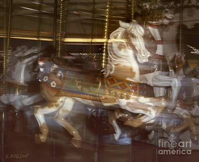 Photograph - merry-go-round ponies - Running Horse by Sharon Hudson