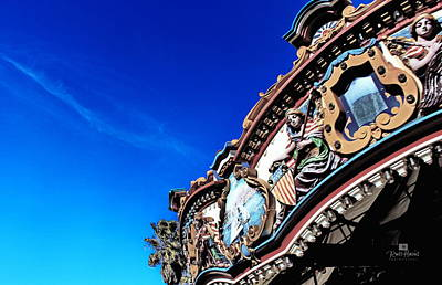 Blue Photograph - Merry-go-round by Russ Harris