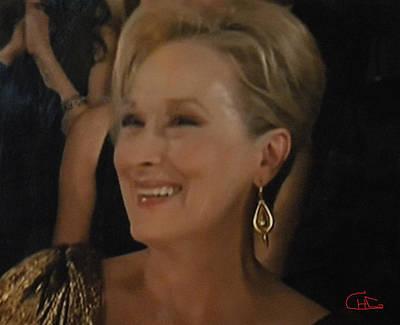 Meryl Streep Portrait  Art Print