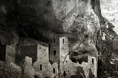 Photograph - Mesa Verde - Monochrome by Ellen Heaverlo