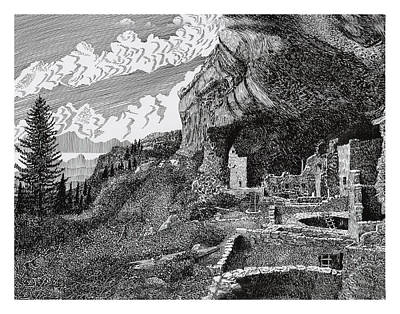 Mesa Verde Cliff Dwellings Print by Jack Pumphrey