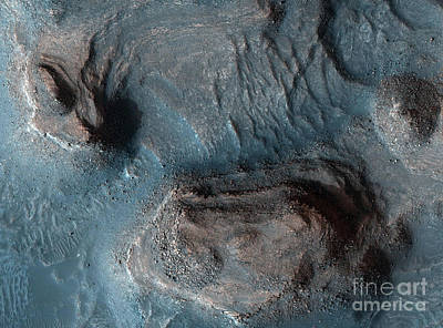 Photograph - Mesas In The Nilosyrtis Mensae Region by Stocktrek Images