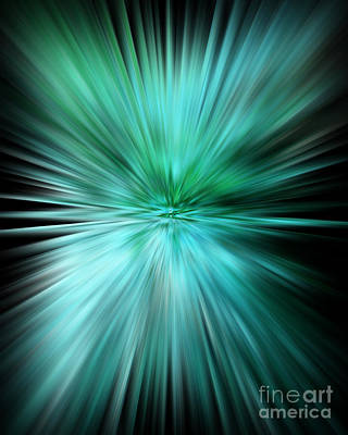 Art And Energetic Digital Art - Mesmerizing Aqua Abstract by Carol Groenen