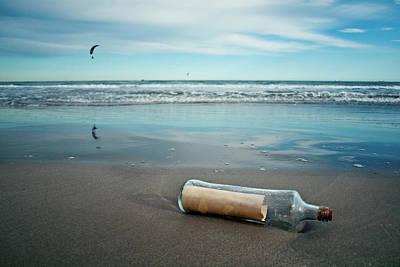 Message In Bottle Art Print