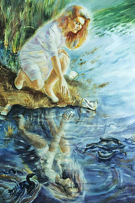 Save The Earth Painting - Message In The Water by Catherine Foster