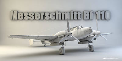 Messerschmitt Bf 110 Art Print by Dale Jackson