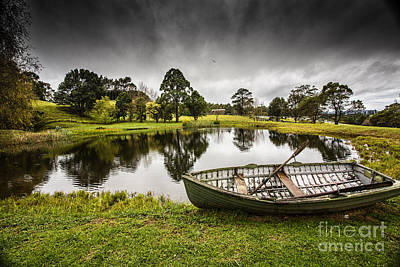 Messing About In A Boat Art Print by Avalon Fine Art Photography