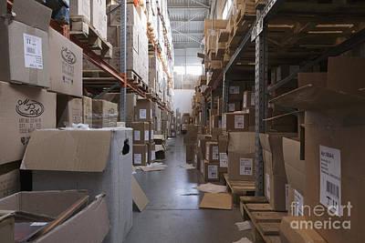 Mess Photograph - Messy Warehouse Aisle by Magomed Magomedagaev