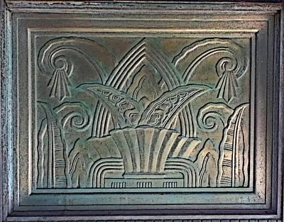 Relief Copper Art Digital Art - Metal Art Deco Relief by Geoff Strehlow