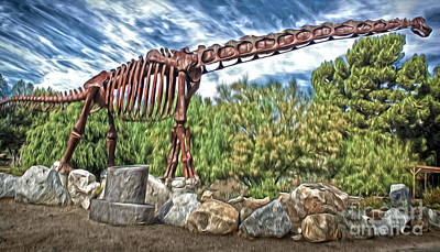 Painting - Metal Brontosaurus by Gregory Dyer