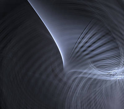 Metal Curves  Art Print by Kim French