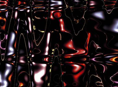 Abstract Digital Digital Art - Metal Fractals 1 by Steve K