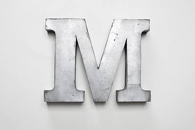 Letter M Photograph - Metal Letter M by Larry Washburn