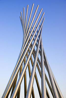 Installation Art Photograph - Metal Sculpture At Fermilab by Mark Williamson