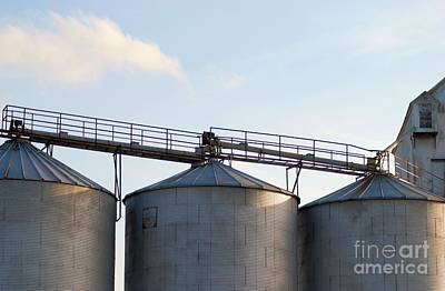 Photograph - Metal Silos by Mark McReynolds
