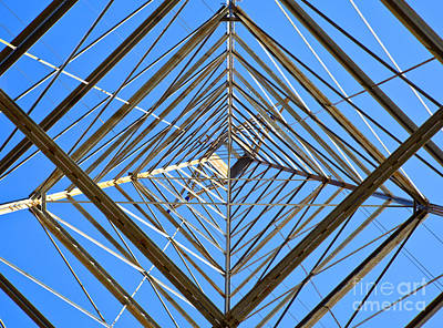 Metal Structure Of Communications Tower Art Print by David Buffington