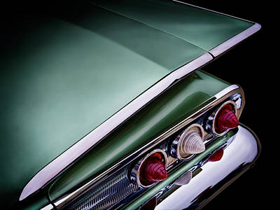 60 Digital Art - Metalic Green Impala Wing Vingage 1960 by Douglas Pittman