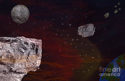 Digital Art - Meteorite Shower  by Brian Roscorla