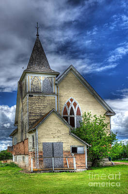 Photograph - Methodist Church Drinkwater Saskatchewan by Bob Christopher