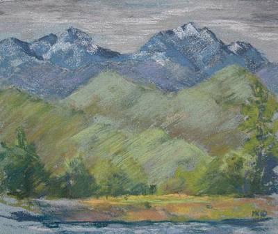 Pastel - Methow River Field by Marlene Kingman