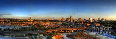 Photograph - Metro Manila Sunset Panorama by Yhun Suarez