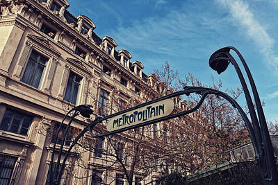 Streetlight Photograph - Metropolitaine by Benjamin Matthijs