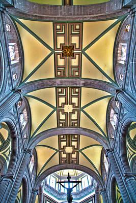 Crusafix Photograph - Metropolitan Cathedral Ceiling by John  Bartosik
